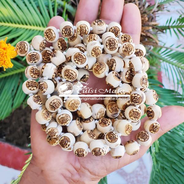 Om Namha Shivaya Tulsi Japa Mala 108 Beads