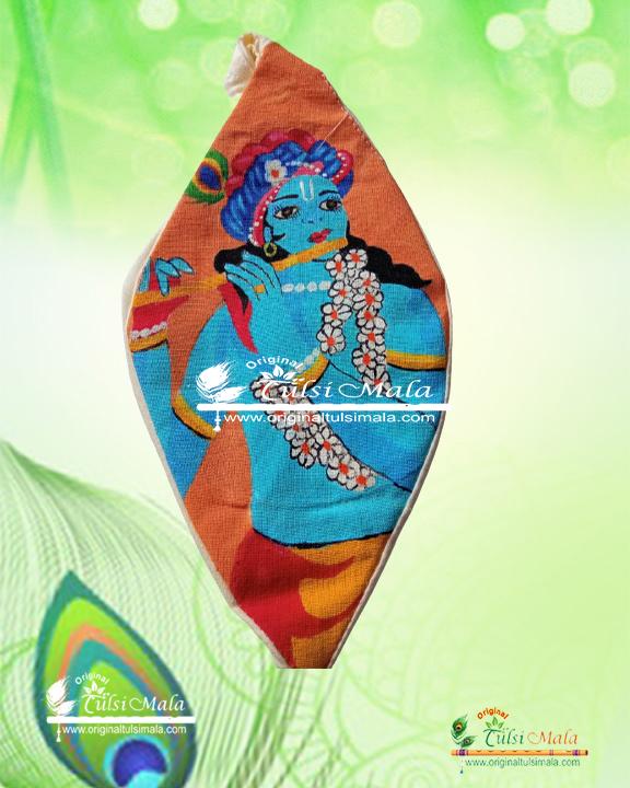 Krishna - Hand Painted Bead Bag