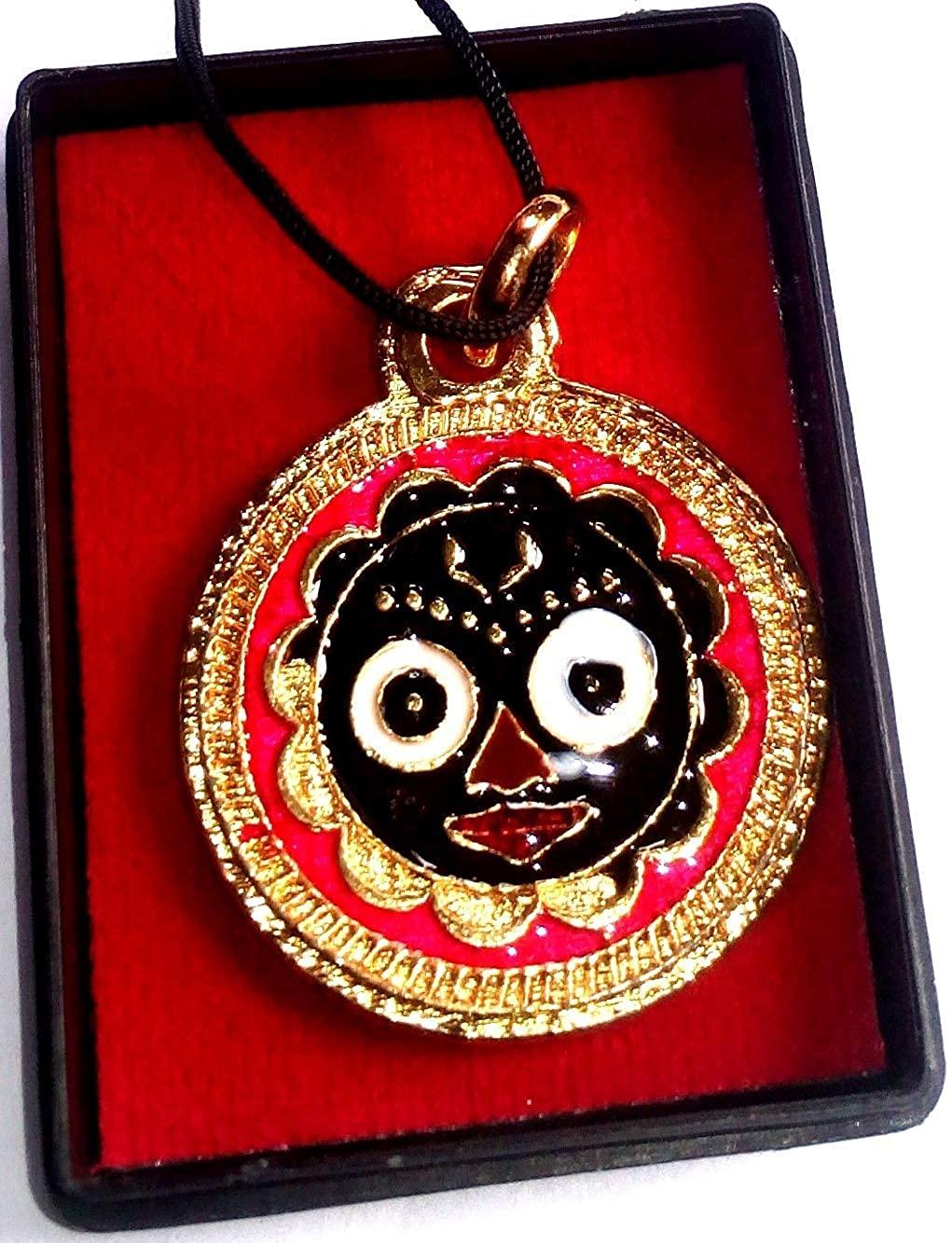 ISKCON Jagannath Red Metal Lord Jagannath Pendant/Locket for Men and Women