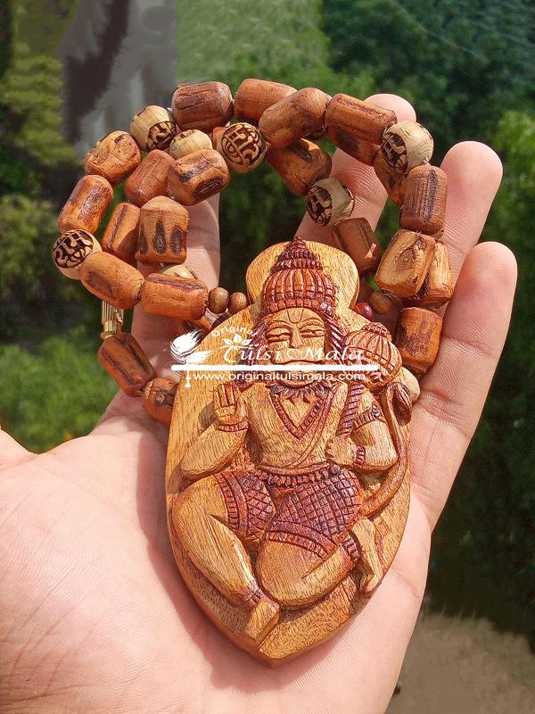 Shri Ram Bhakt Hanuman Tulsi Locket Mala