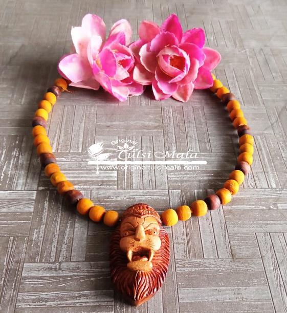 Shri Narasimha Tulsi Locket Mala Pure Tulsi Beads