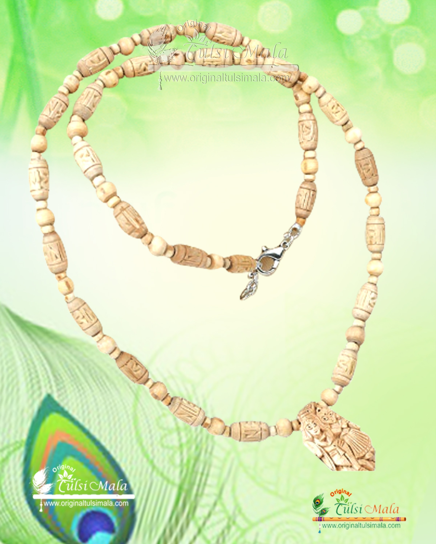 Original Tulsi mala with Radha krishna pendant