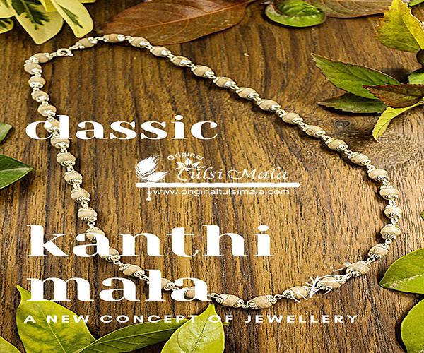 Silver Classic Tulsi Kanthi Mala