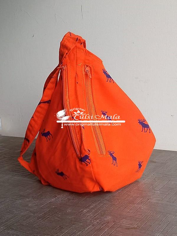 Orange Cotton Japa Bead Bag premium