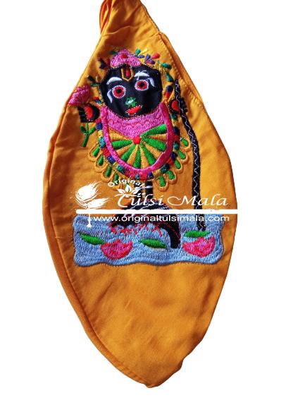 Krishna Japa Bead Bag (Embroidered)