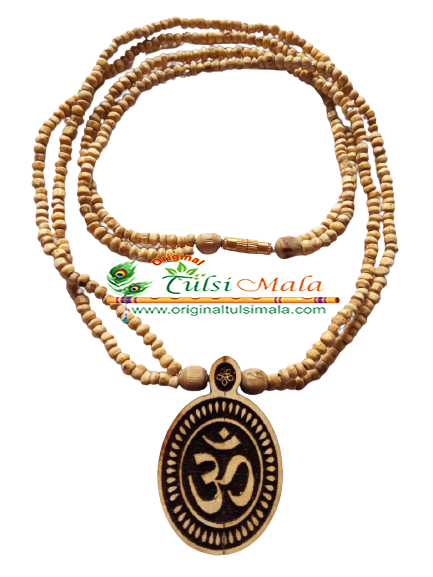 OM Original Tulsi Round Beads Locket Mala