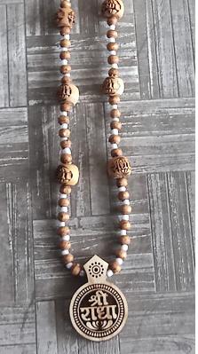 Shri Radha Locket with Unique Design Tulsi Kanthi Mala