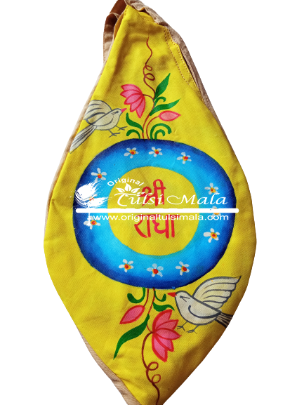 Hand-painted Sri Radha Bead Bag