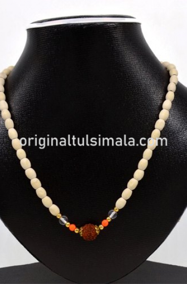 Wooden Beads Original 5 Face Rudraksha  Mala