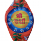 Hand-Painted Sri Radha Beads Bag- Two Sided Zip Pattern
