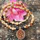 Om Locket Mala With Radha Naam Rosary Beads