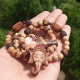 Shri Ganesh Face Tulsi Locket Mala With Om Beads