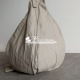 Grey Cotton Japa Bead Bag premium