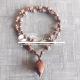 Wonderful Carving Tulsi Lotus Beads Locket Mala