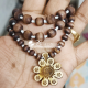 Shri Radha Flower Shaped Tulsi Locket Mala