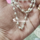 Sterling silver and natural tulasi basil rosary beads chain -12 gm , 24 inch