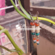 Attractive cylindrical shaped pure tulsi earrings