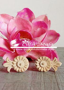 Flower Shaped Pure Tulsi Earrings