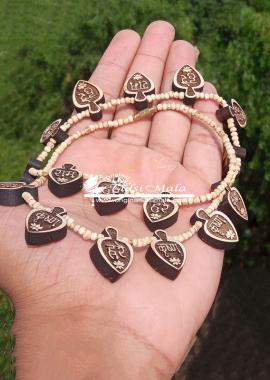 Hare Krishna Beautiful Japa Mantra Tulsi Necklace