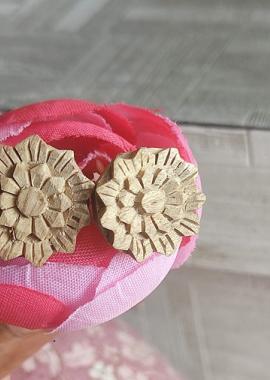 Flower shaped Tulsi Original Earings