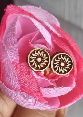 Flower Design Tulsi Earrings