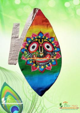 Jagannath Sky - Hand Painted Bead Bag</h3>