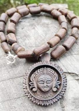 Beautifuly Design Jai Kali Maa Tulsi Locket Mala