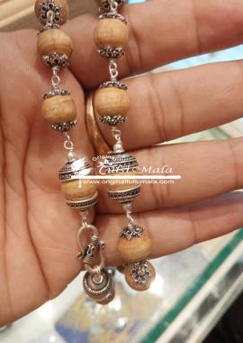 Silver Tulsi Kanthi Mala Round Save 12 MM Beads